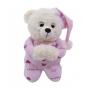 Urso que Reza Rosa Pijama Pelúcia 30cm