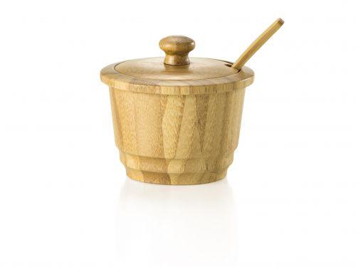 Açucareiro em Bambu com Colher