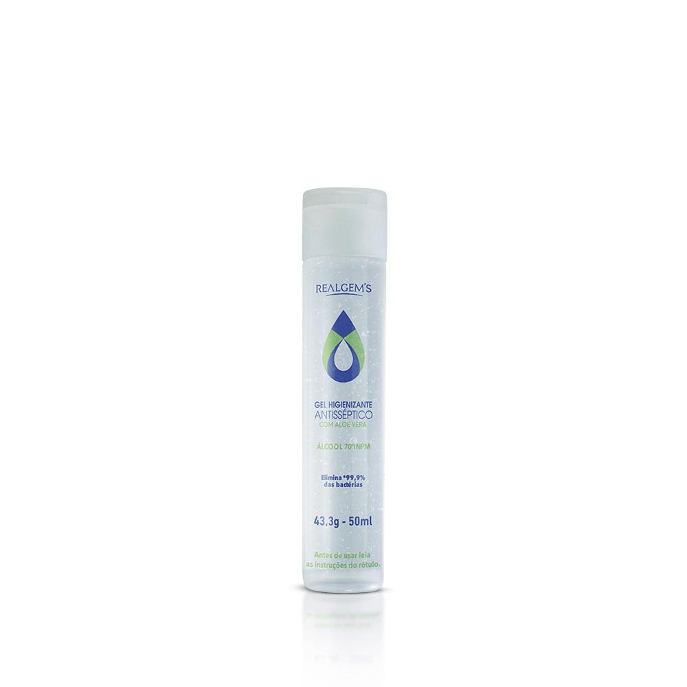 Álcool em Gel 50ml - Higienizante Antisséptico 70% com Aloe Vera