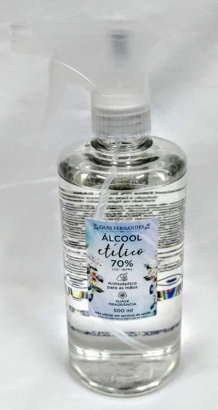 Álcool Etílico Antisséptico 70% 500ml Dani Fernandes