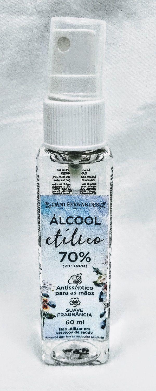 Álcool Etílico Antisséptico 70% 60ml Dani Fernandes