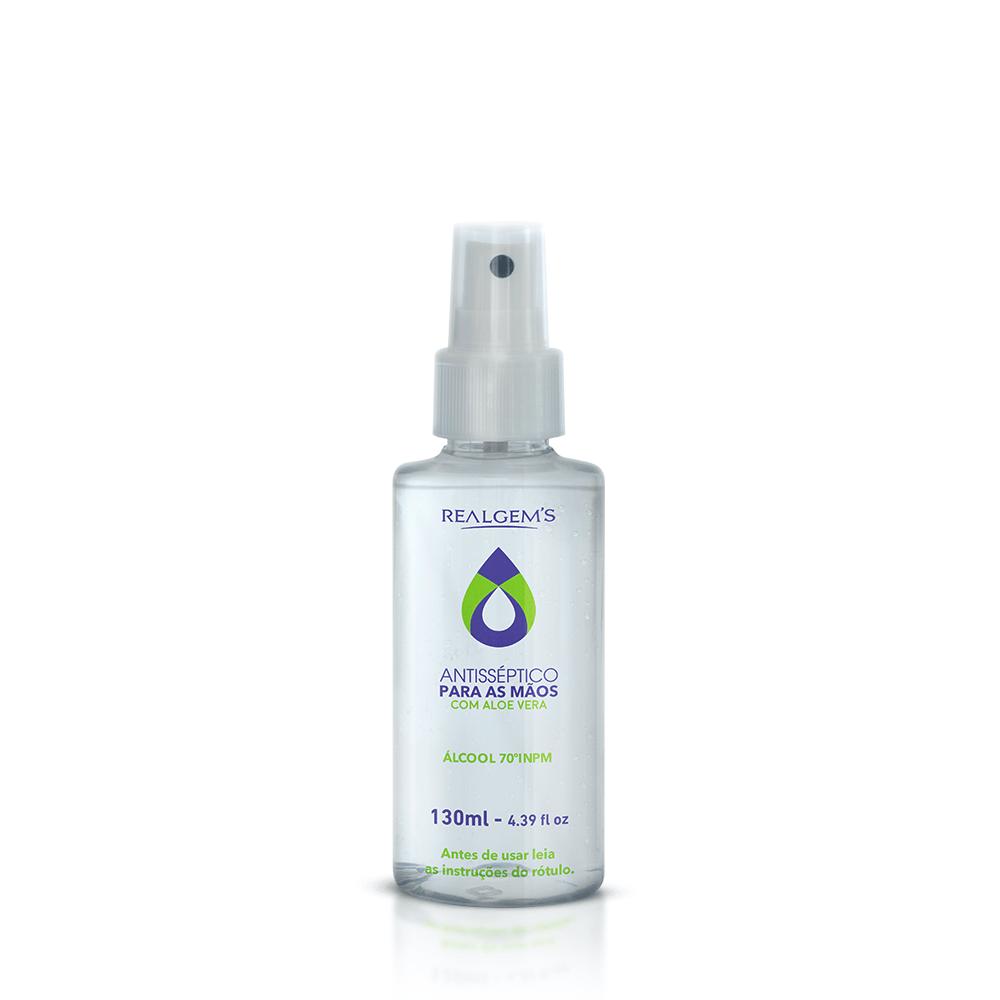 Álcool Líquido 130ml - Higienizante Antisséptico 70% com Aloe Vera