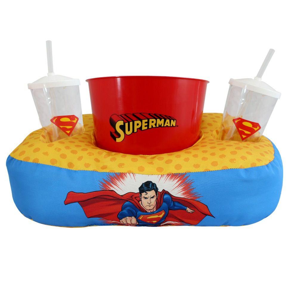 Almofada de Pipoca Superman com dois Copos e Balde