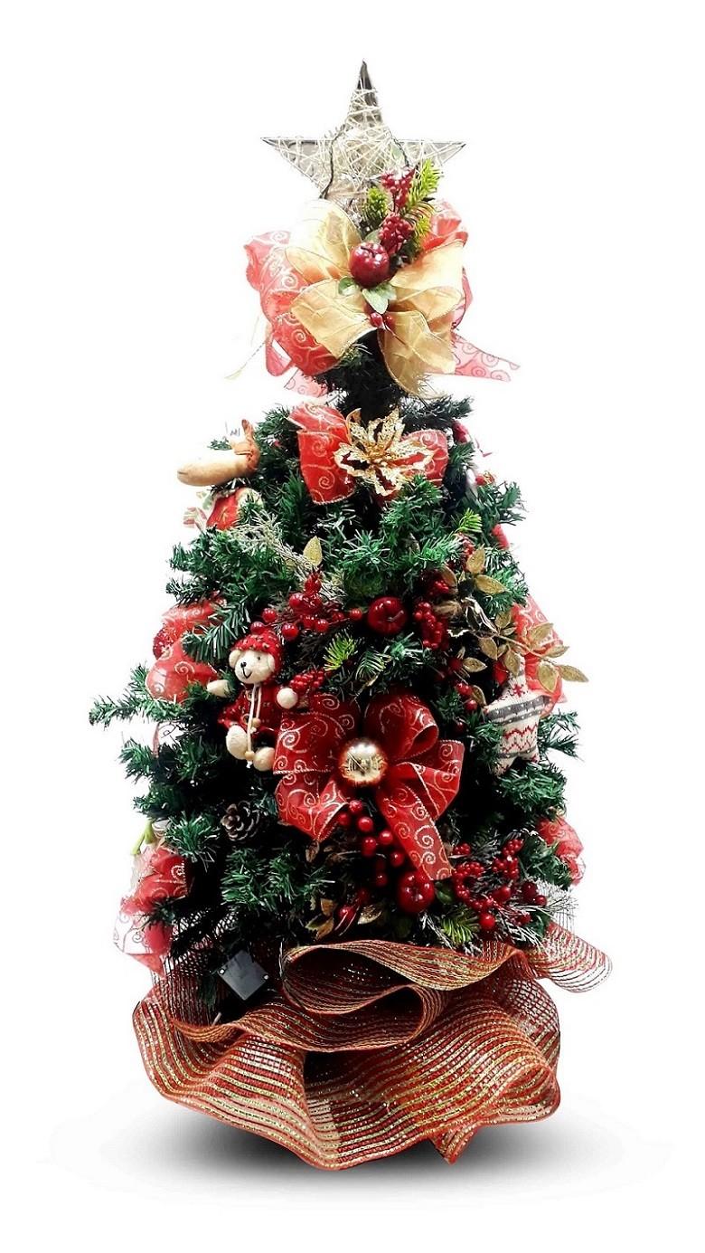 Árvore de Natal 95cm com Enfeites