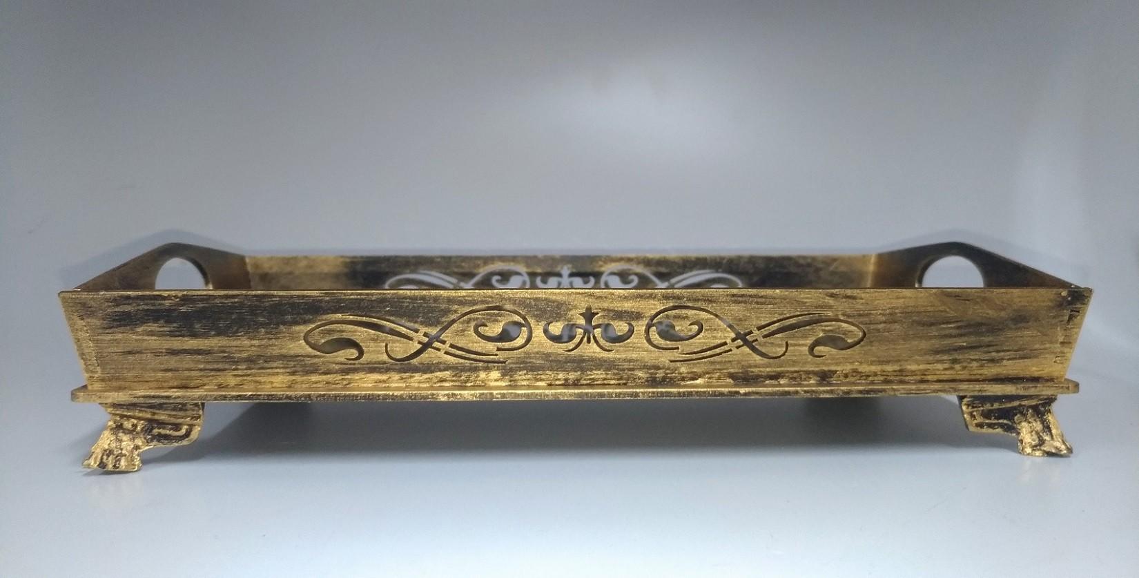 Bandeja Retangular Espelhada 27x14,5cm