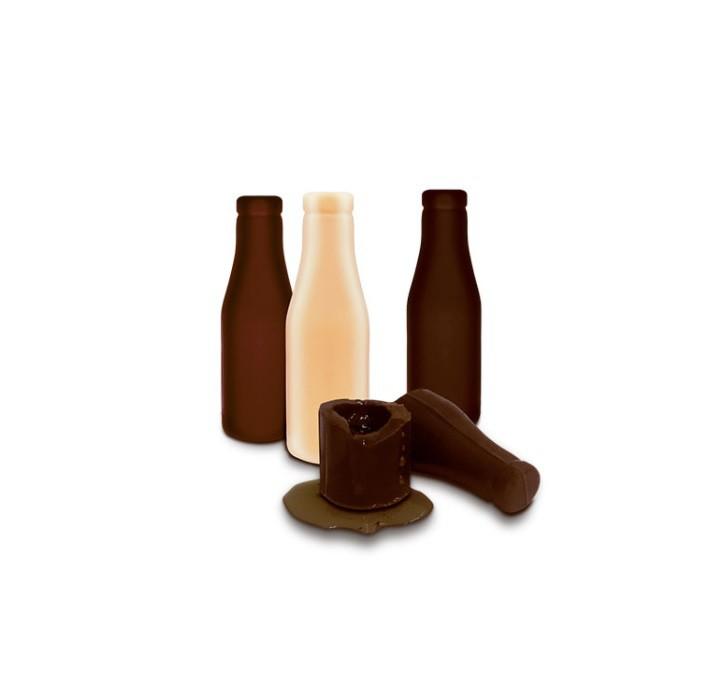 Caixa 12 Garrafinhas de Chocolate com Licor - Golden Shots 290g