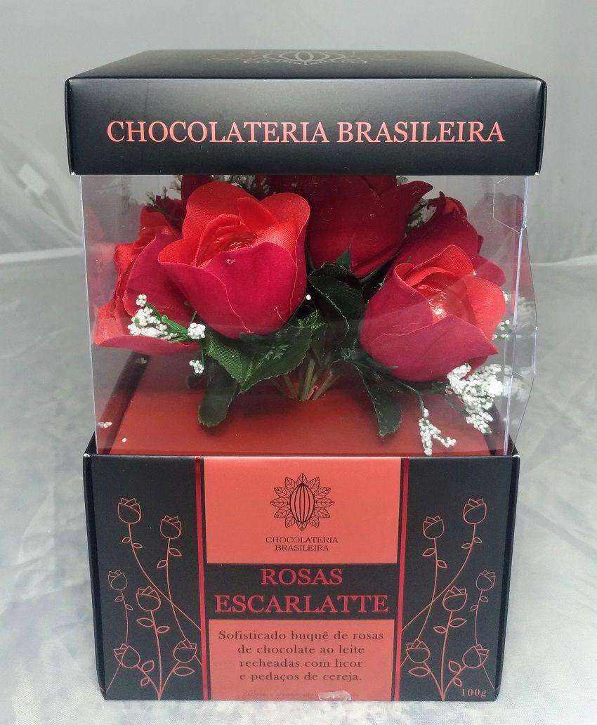 Caixa Chocolate Buquê de Rosas 100g
