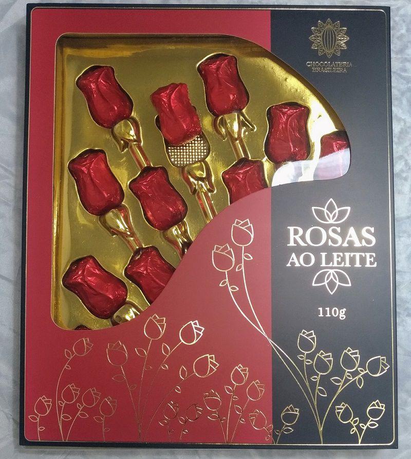 Caixa com Chocolates de Rosas ao Leite