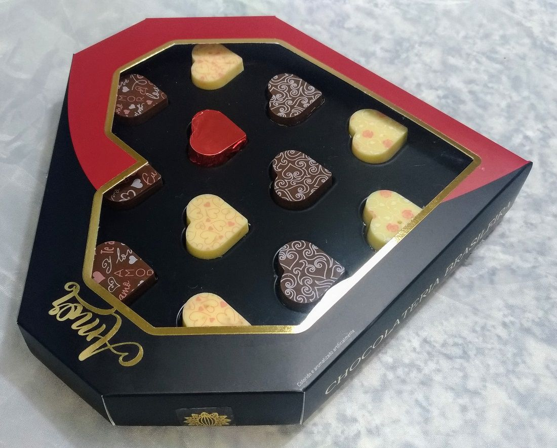 Caixa Coração Amor com Chocolates 115g