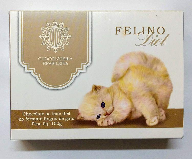 Caixa de Chocolate ao Leite Diet Língua de Gato 100g