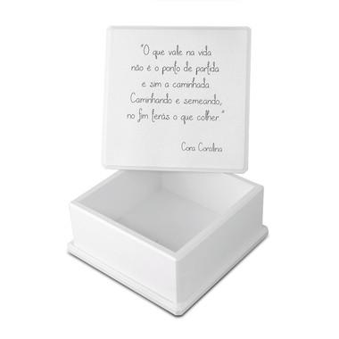 Caixa Organizadora Madeira Mdf sem Repartição Pequena Cora Carolina