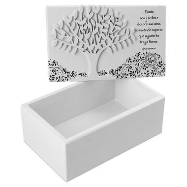Caixa Organizadora Pequena com Frase Shakespeare