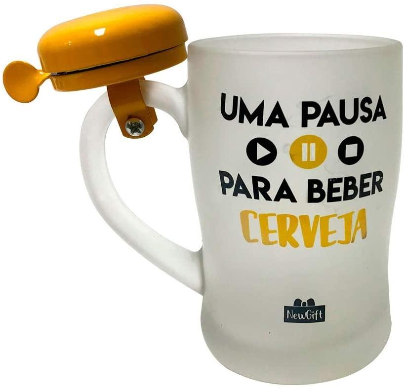 Caneca Campainha Uma Pausa para Beber Cerveja 400ml - Newgift