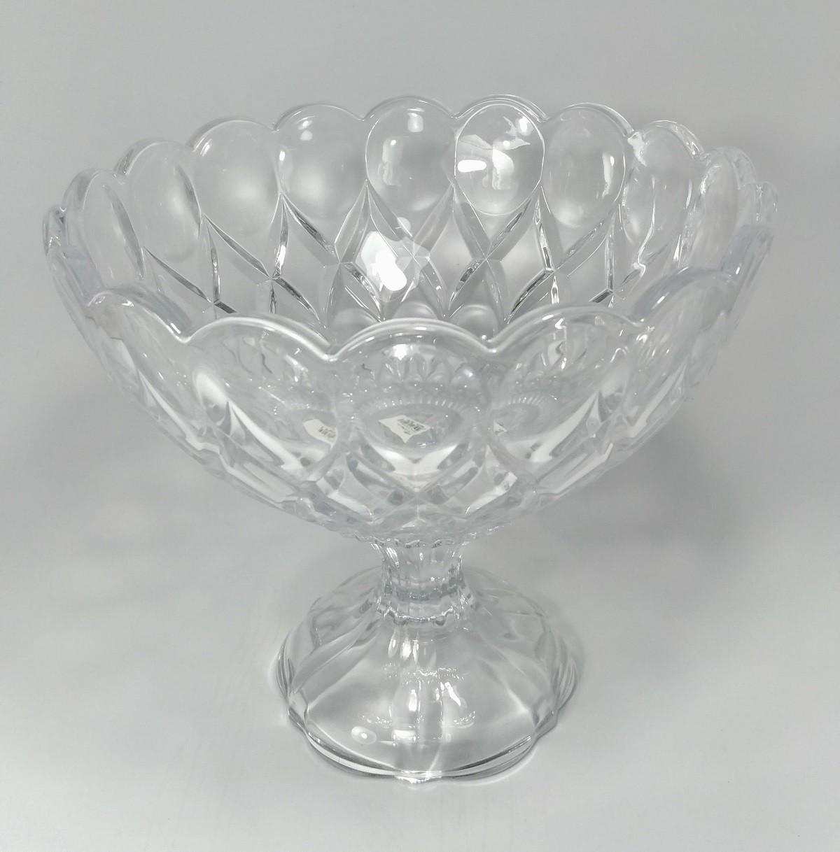 Centro de Mesa 21,5cm de Cristal Transparente Com pé Angel