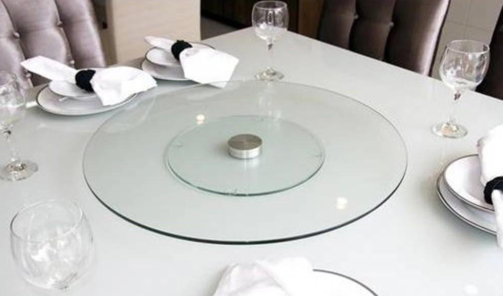 Centro De Mesa Giratório Com Vidro Temperado 60cm - Bon Gourmet