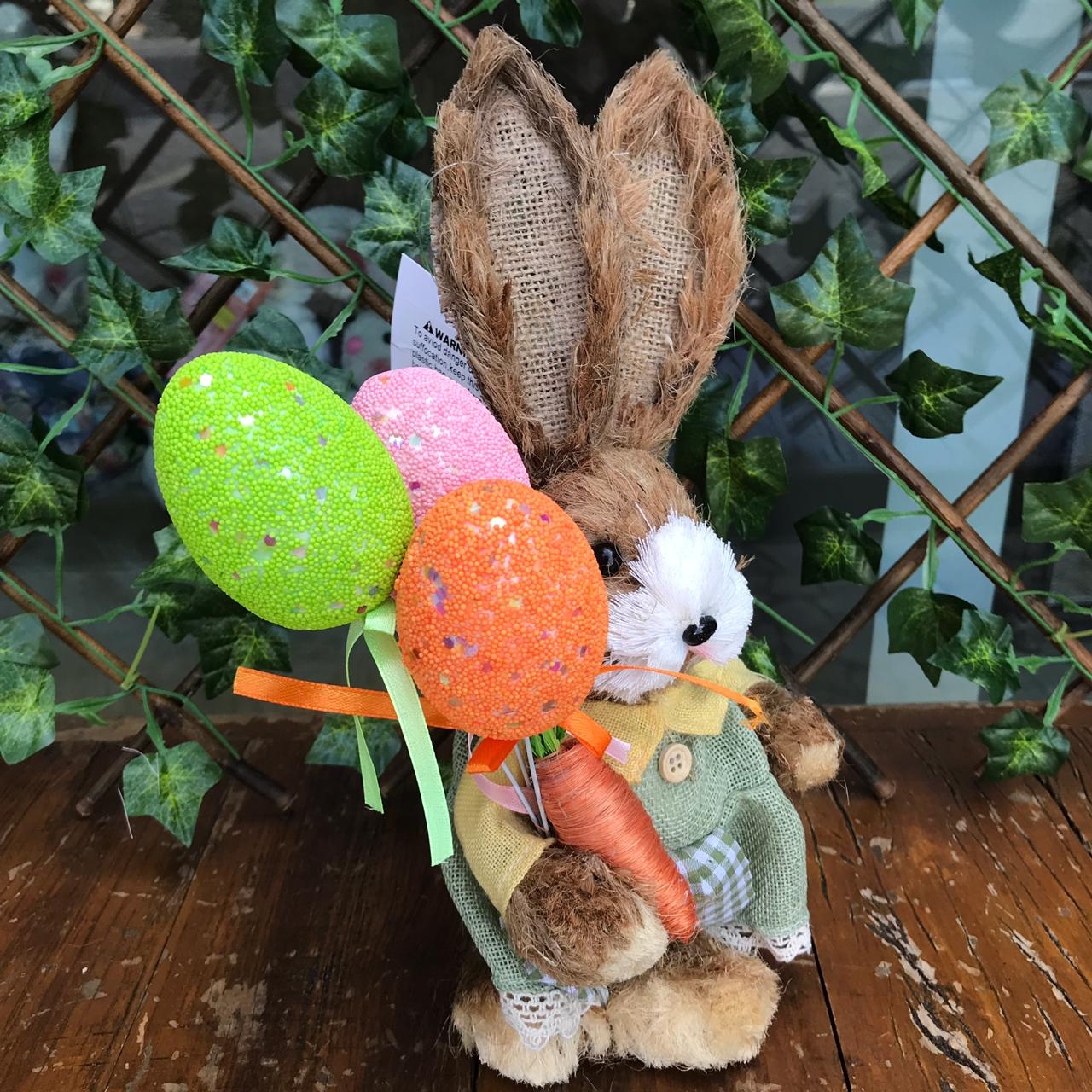Coelha super Fofa com Balão Rústica