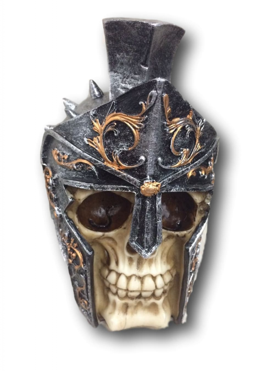 Cofre Vikings Caveira Prata Dourado