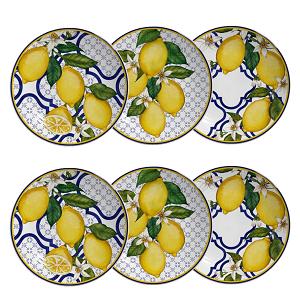 Conjunto de Pratos de Sobremesa Linha Sicilia