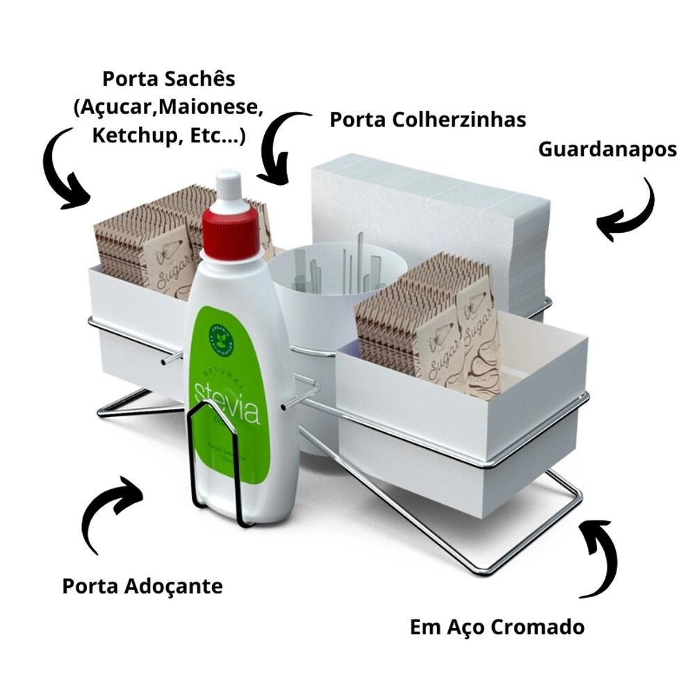 Conjunto Organizador para Chá/Café com Porta Guardanapo - Stolf