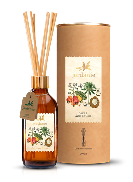 Difusor de Aromas Caju e Água de Coco 200ml - Jordanie