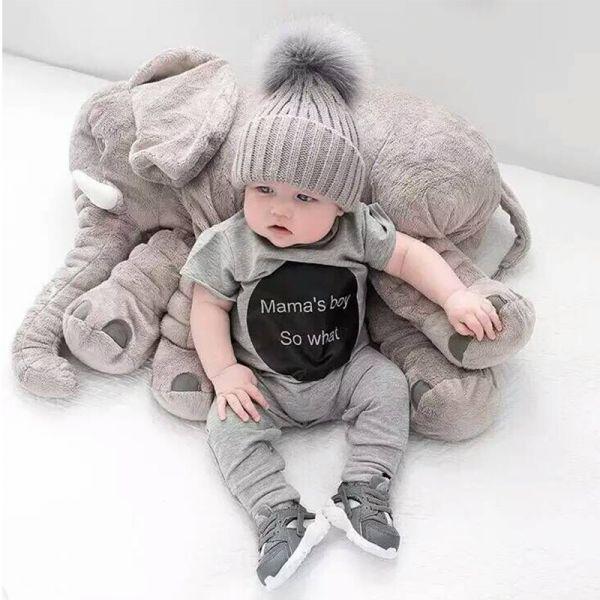 Elefante de Pelúcia para Bebê 60cm