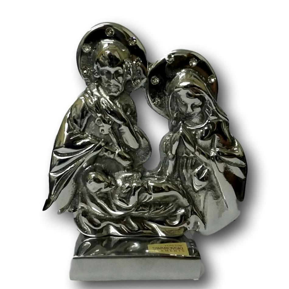 Escultura em Alumínio Fundido com Strass Sagrada Família