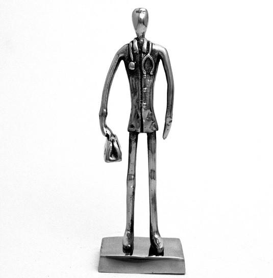 Escultura Médico em Alumínio Fundido