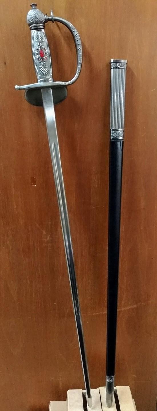 Espada Decorativa de Aço Inox com Bainha