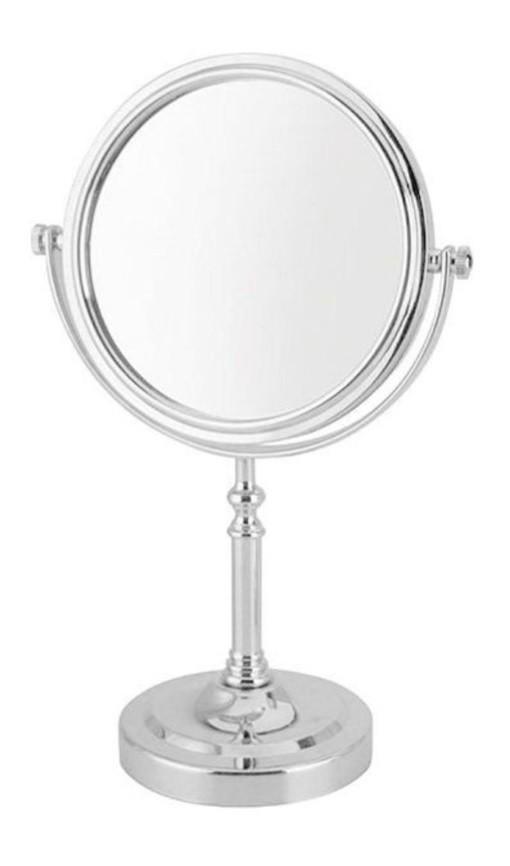 Espelho de Mesa Dupla Face Redondo com Pedestal Unyhome