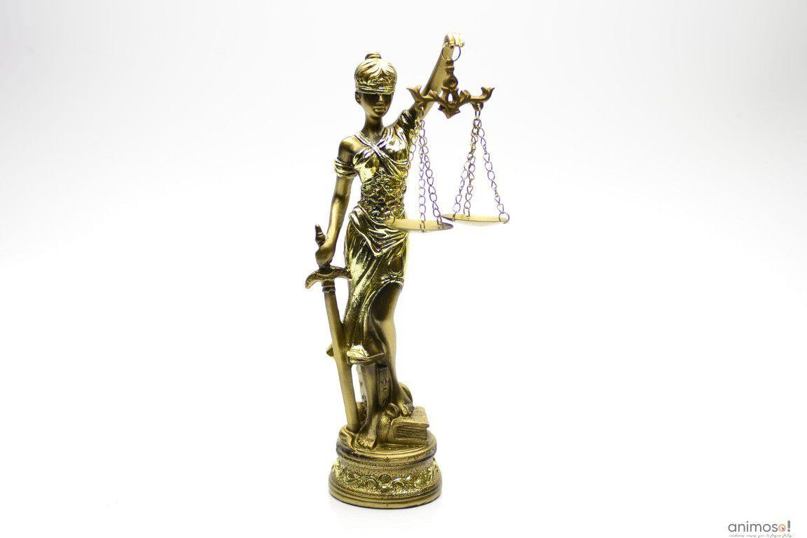 Estátua Dama Da Justiça 24cm