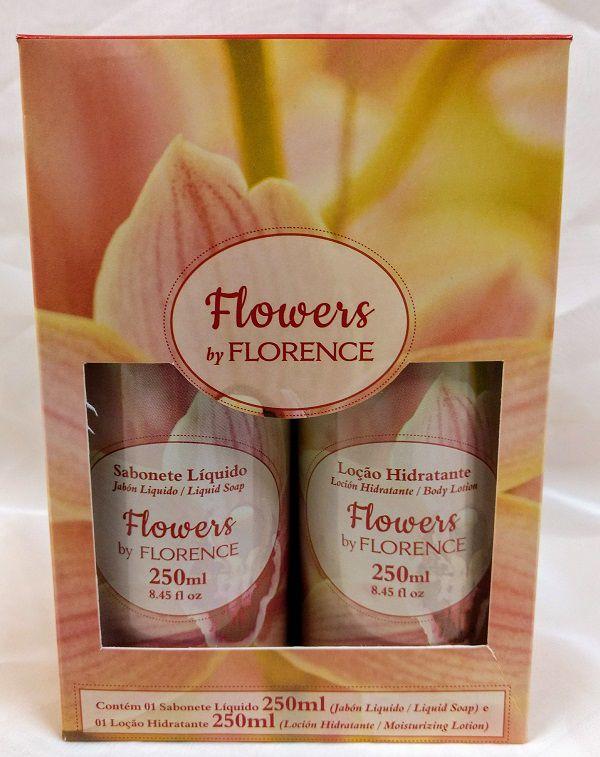 Estojo Sabonete Líquido com Loção Hidratante Flowers