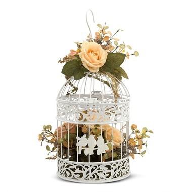 Exclusividade Gaiola Decorativa com Flores (consultar modelos disponíveis)