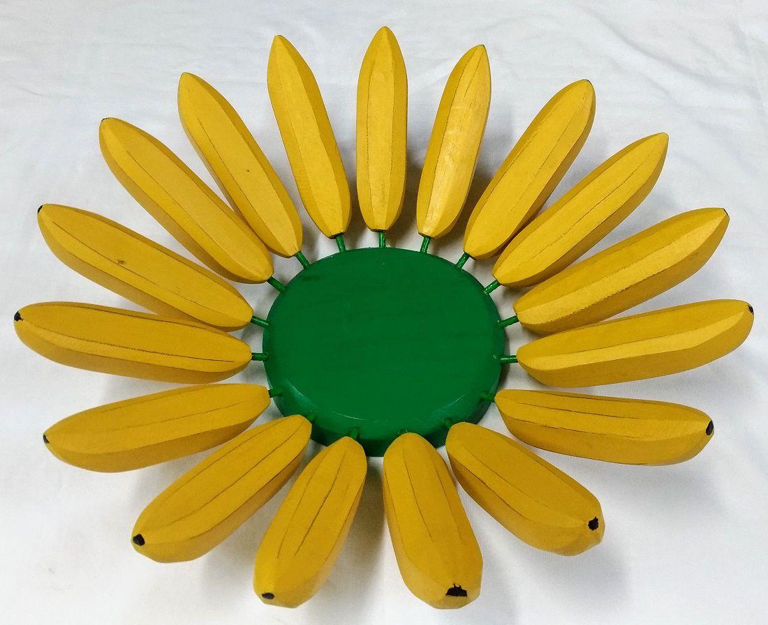 Fruteira de Madeira Bananas M 36x36cm