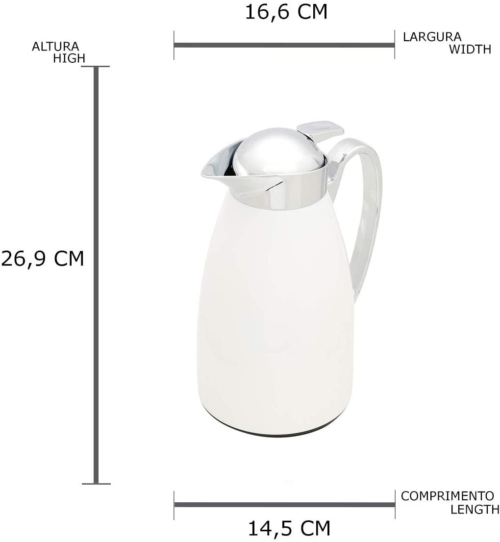 Garrafa Térmica Metal 1 Litro Branca Toulouse Wolff
