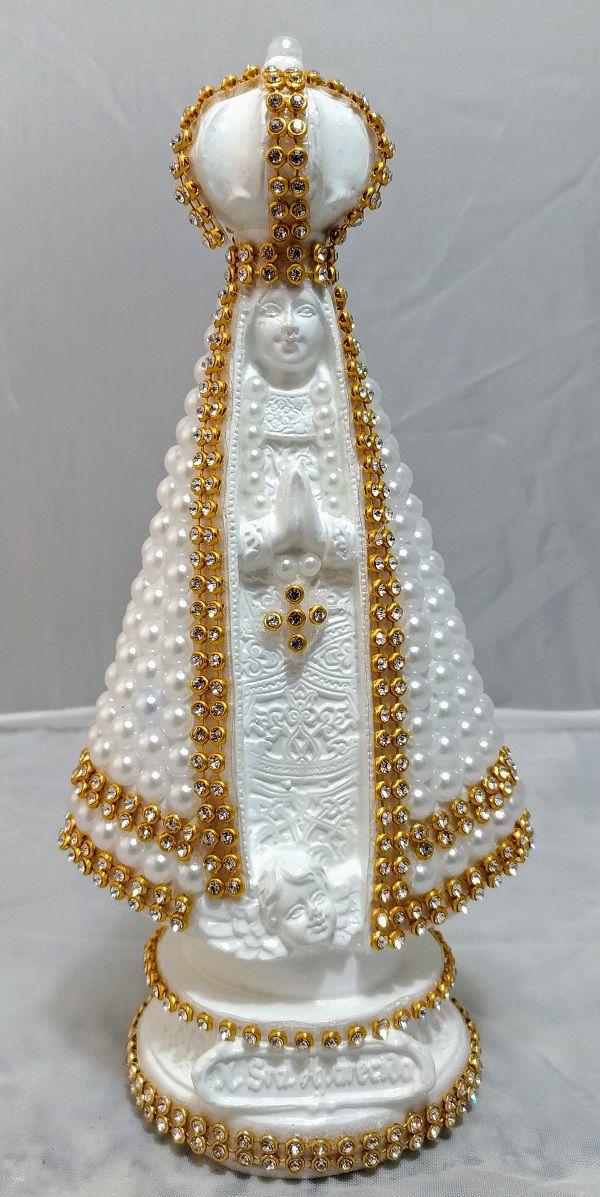 Imagem Nossa Senhora Aparecida Branca 18cm