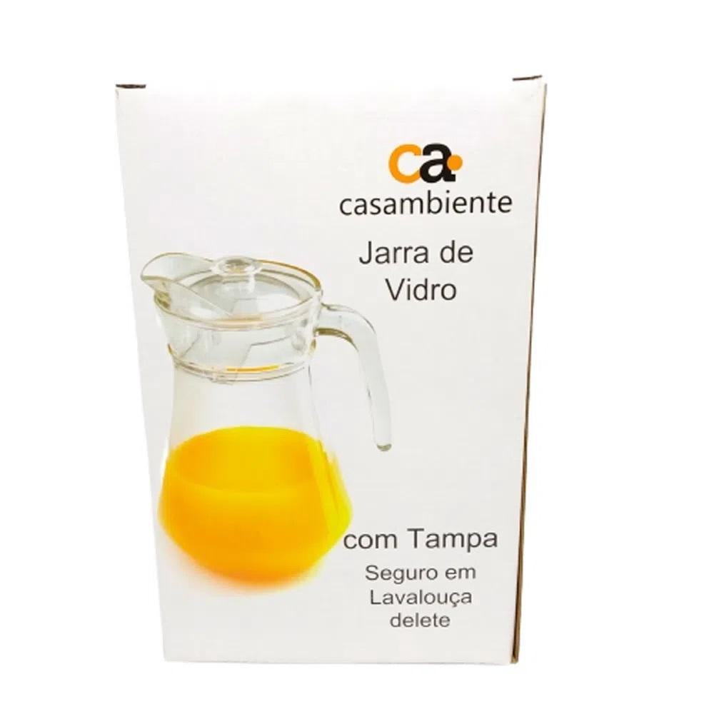 JARRA DE VIDRO COM TAMPA TRANSPARENTE 1,3L - CASAMBIENTE