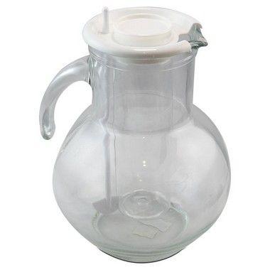 Jarra de Vidro para Água/Suco com Suporte para Gelo e Mexedor