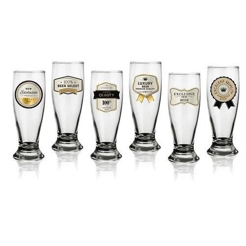 Jogo 6 Copos Braminha Novo Premium Gold 300ml - H-martin