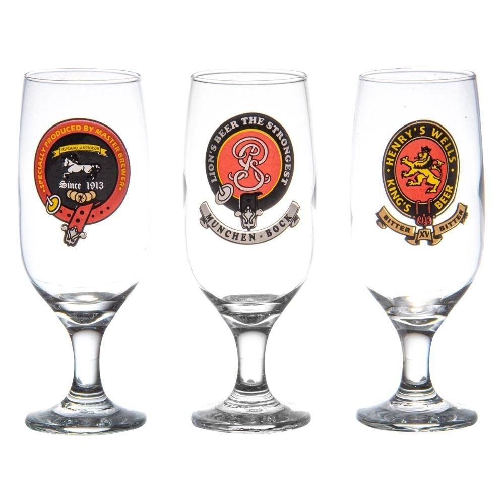 Jogo 6 Taças Para Cerveja Floripa Retro 300ml - H. Martim