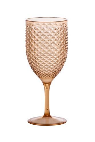 Jogo 6 Taças Vinho Acrilico Amber Cint 480Ml - Paramount Luxxor