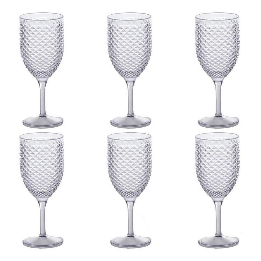 Jogo 6 Taças Vinho Acrilico Transparente Cint 480Ml - Paramount Luxxor
