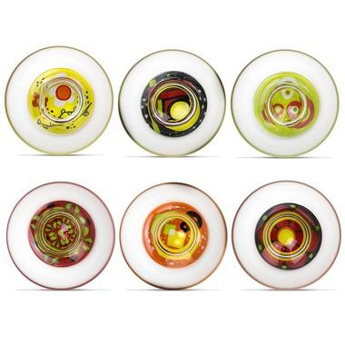 Jogo com 6 Taças de Sobremesa Coloridas