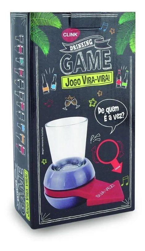 Jogo Vira Virou Drink Seta Ponteiro C/ Copo De Vidro