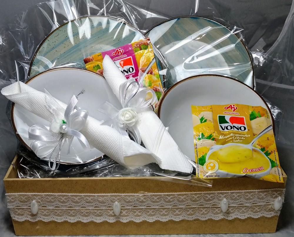 Kit 2 Bowls para Sopa com 2 Pratos