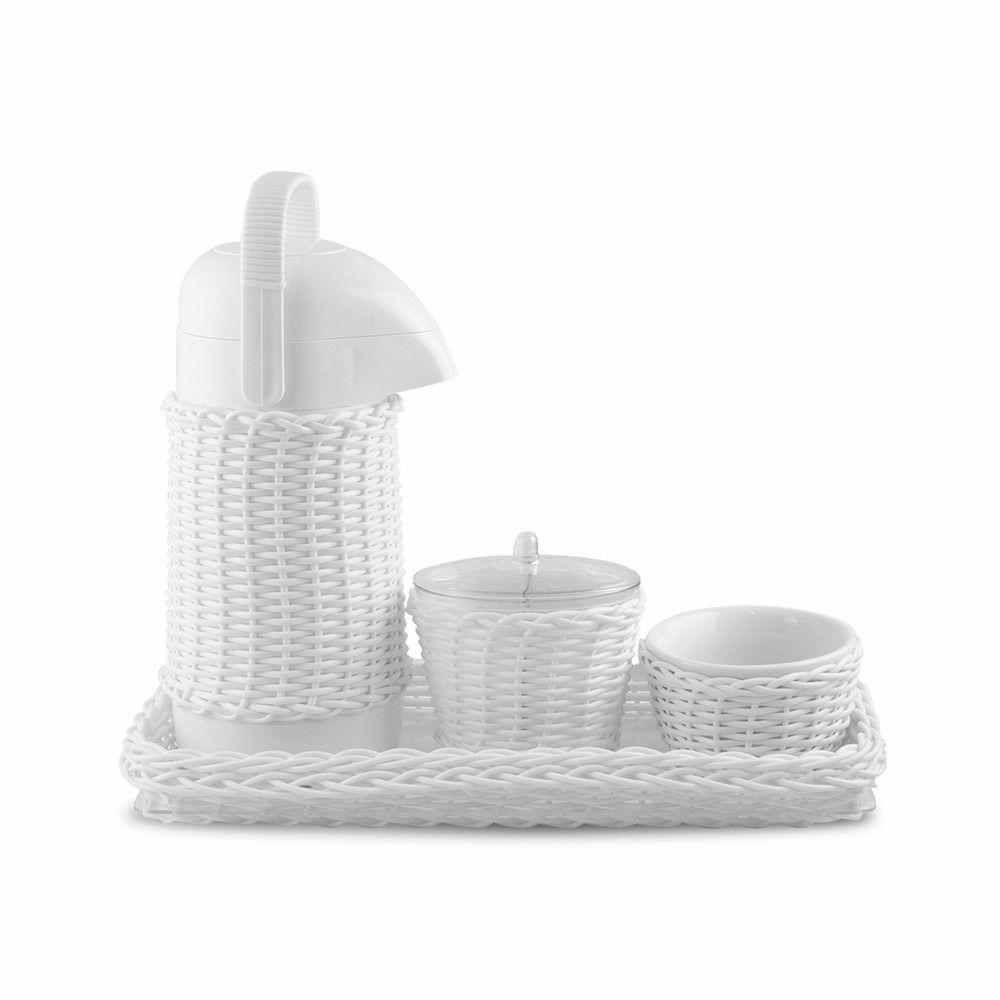 Kit de Higiene para Bebê Branco com 4 peças