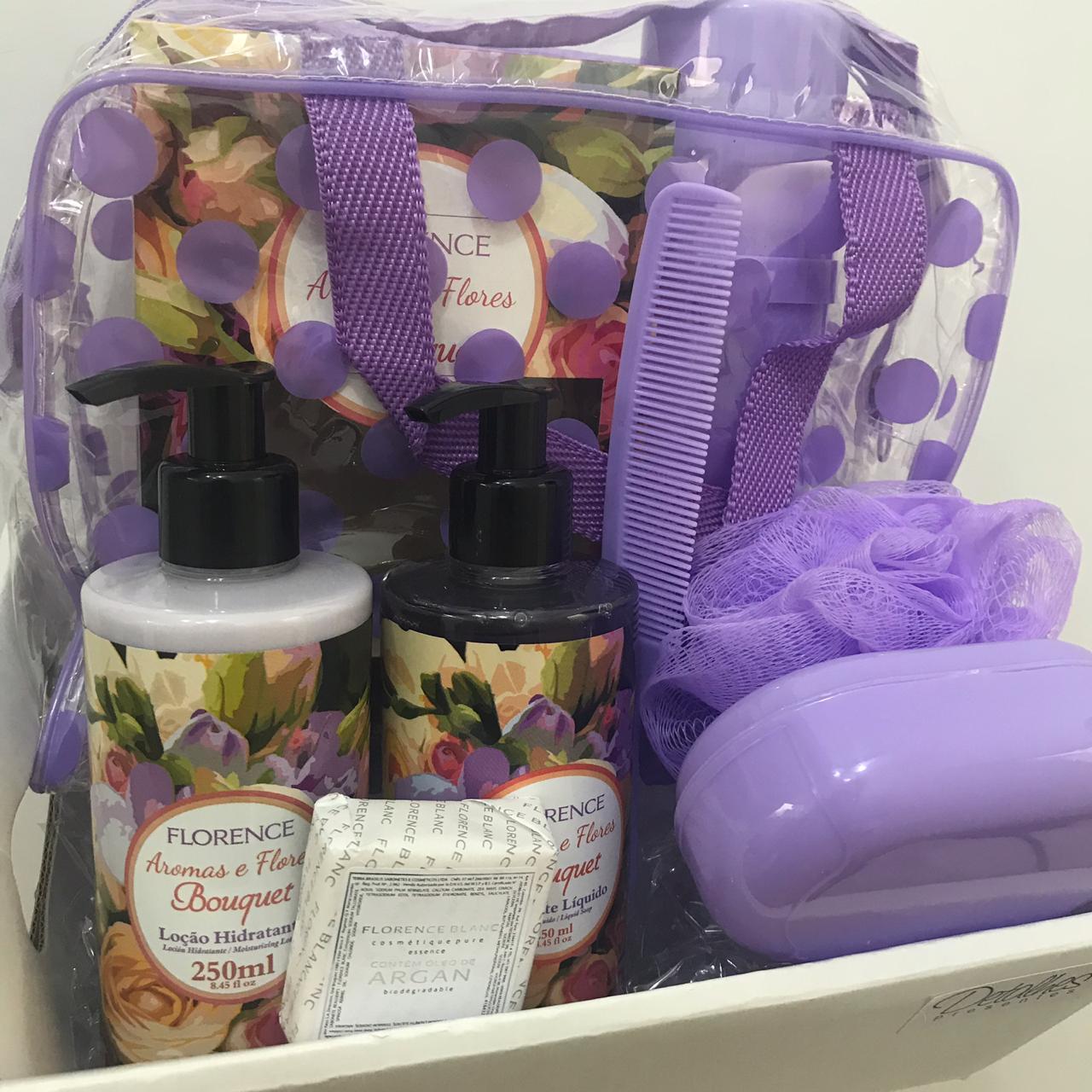 Kit de Sabonete Líquido e Creme Hidratante Corporal Aroma Bouquet