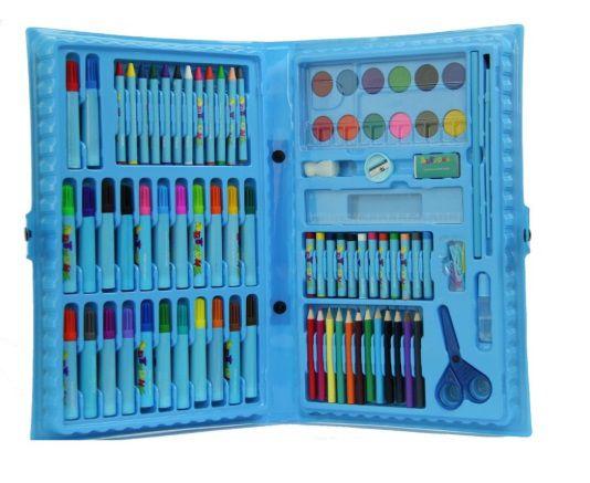 Kit Escolar 86 Peças Azul