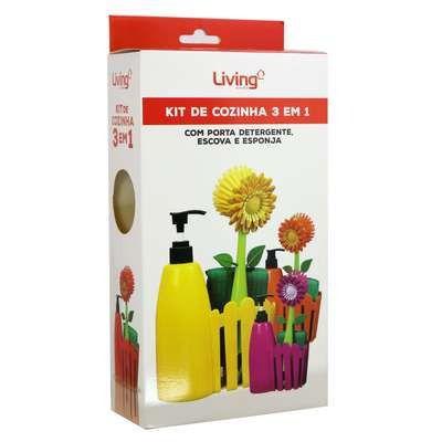 Kit Limpeza Com Suporte 3 Peças
