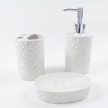 Kit para Banheiro 3 peças Branco