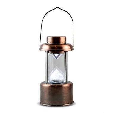Lampião Com Luzes Led Lamparina A Pilha 16 LED
